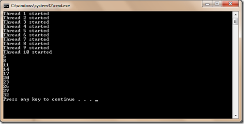 Lock example in C# to make threadsafe