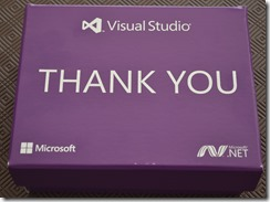 Visual Studio Thank You box