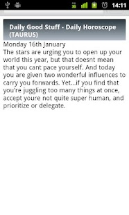 Taurus Daily Horoscope - screenshot thumbnail
