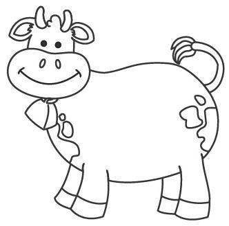Dibujos De Vacas Para Colorear