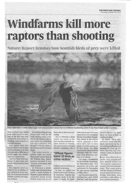 Press & Journal Raptor Deaths