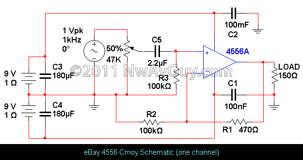 eBay 4556 Cmoy Schematic (one channel)