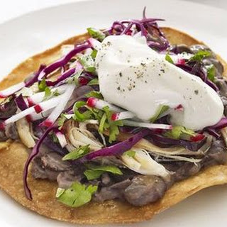 Chicken and Black Bean Tostadas Recipe