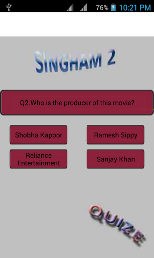 Singha2 movie quize