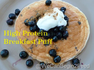 High Protein Breakfast Puff