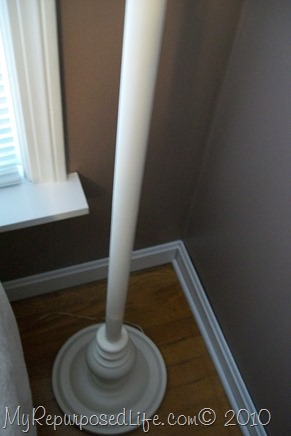 brass lamp gets painted white
