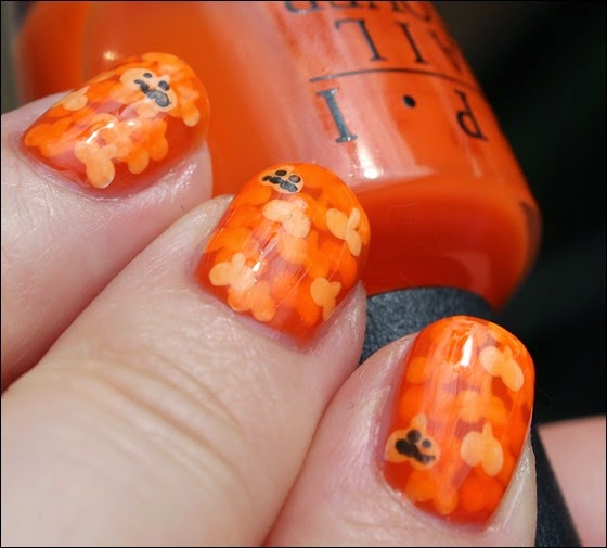 Halloween Pumpkin Kürbis Nail Art Nageldesign 01