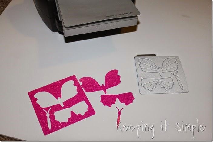 Little girl's room idea glitter paper butterflies (1)