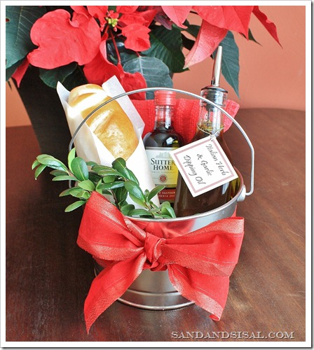 Garlic & Herb Dipping Oil Hostess Gift Pail
