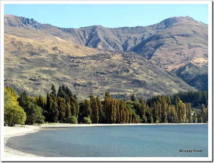 The hills around Lake Wanaka.