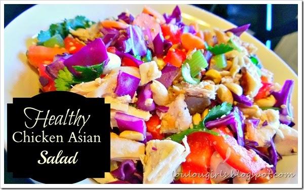 healthy Asian chicken salad