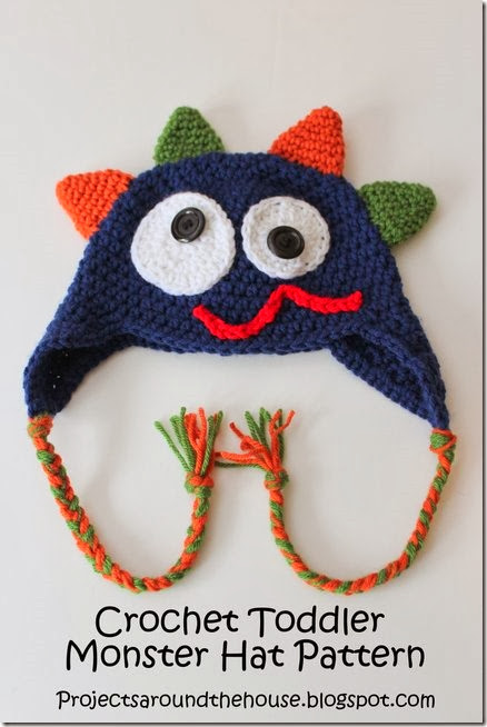 Crochet Toddler Monster Hat Pattern