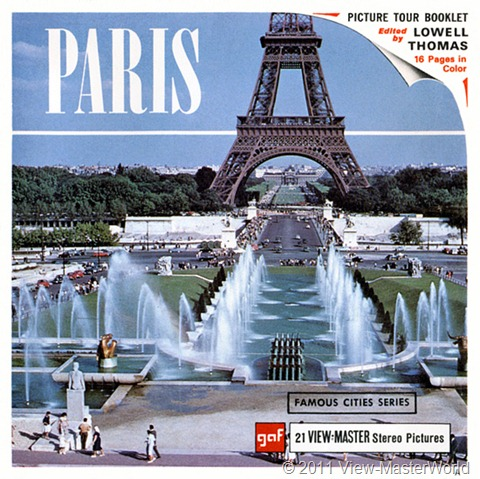 View-Master Paris, France (B177), packet cover