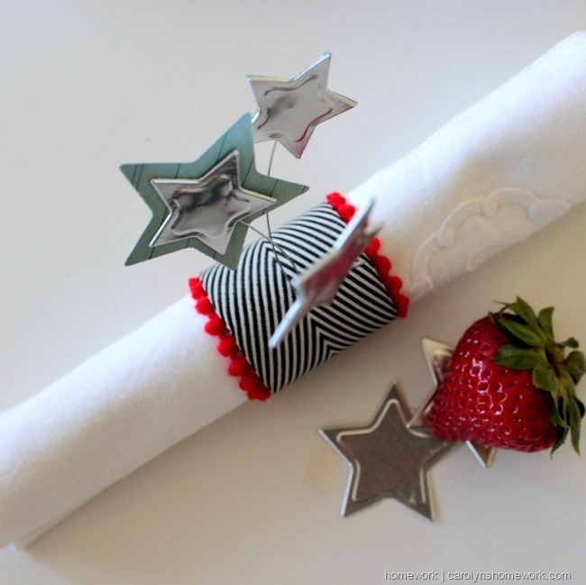 Patriotic Napkin Rings with Stars via homework ~ carolynshomework (13)