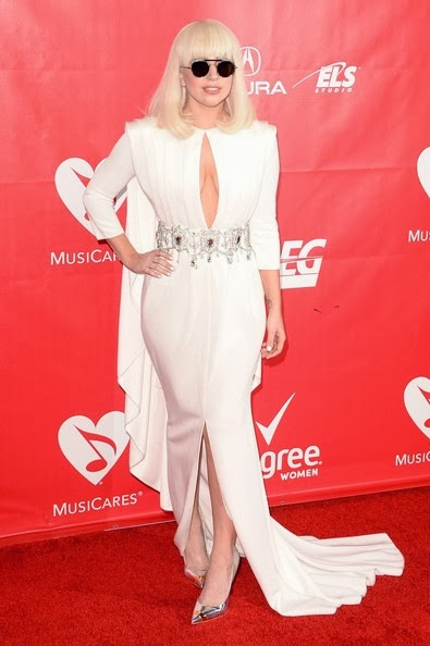 Lady Gaga attends The 2014 MusiCares Person Of The Year Gala