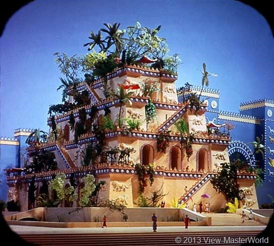 View-Master The Seven Wonders of the World (B901), Scene 4: Hanging Gardens of Babylon
