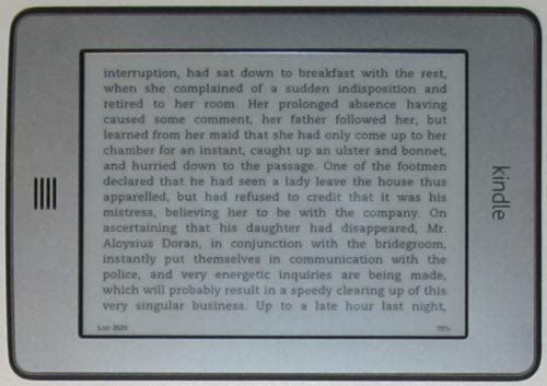 Kindle Touch - Landscape mode