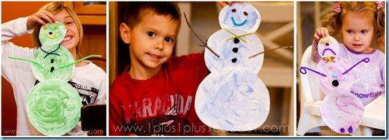 Snow Paint Snowmen Carft