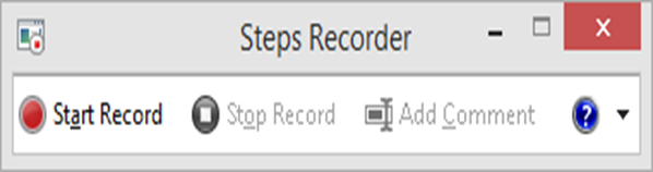 Windows Problem step recorder