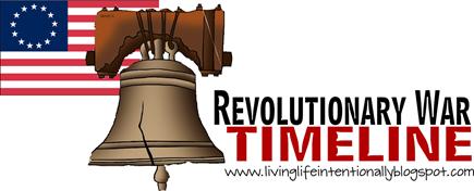 Revolutionary War Timeline for Homeschoolers