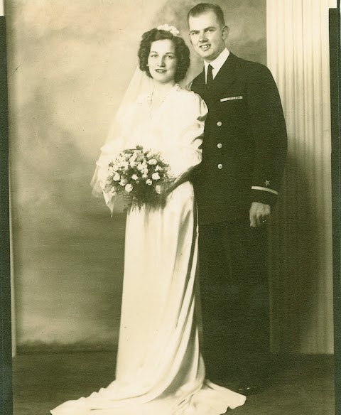 Chet and Lois Matthews grandparents wedding.jpg