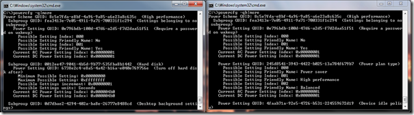 Information Transmogrification: Power options in Windows 7