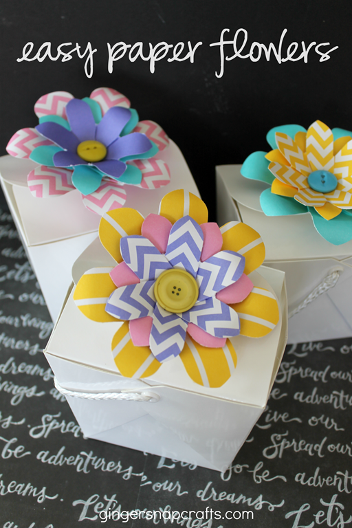 Easy Paper Flowers Tutorial at GingerSnapCrafts.com #wermemorykeepers #ad