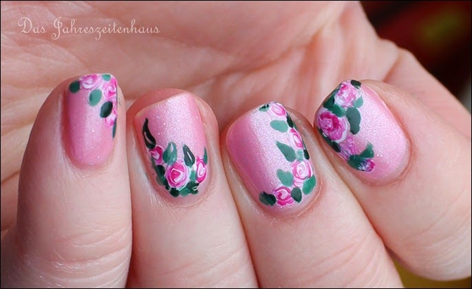 00 Roses in Bloom Nail Art Rosen Blüten Rosa