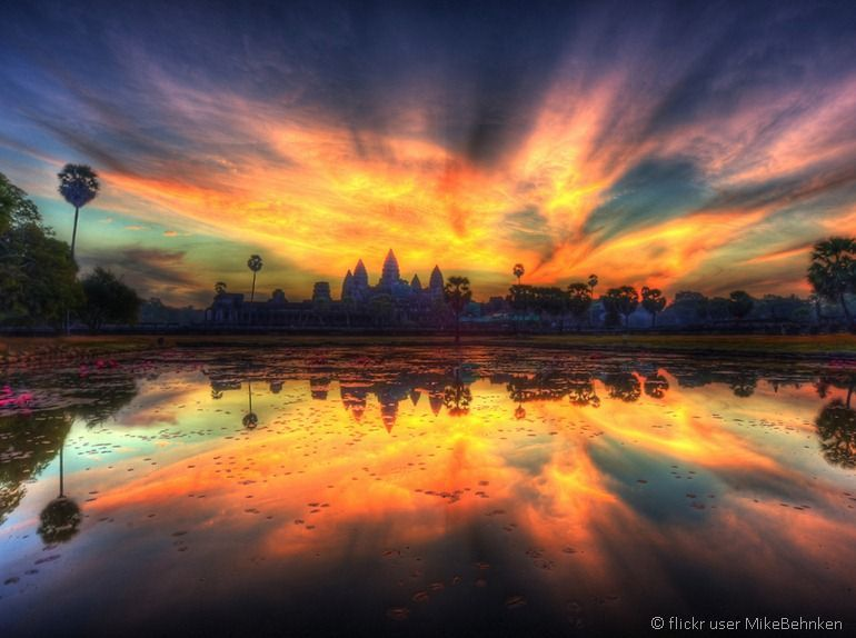 Angkor Wat sunset by flickr user MikeBehnken