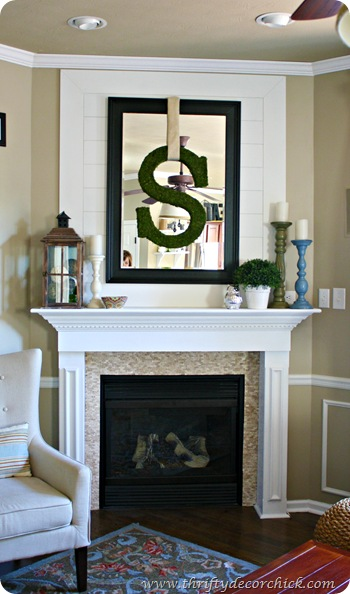 wall treatment over mantel