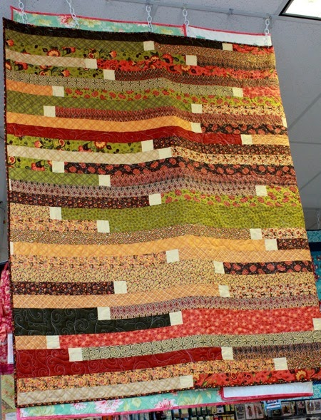 Jelly Roll Race quilt from The Fabric Mill