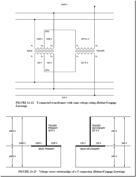 transformer connections for three phase circuits t. Black Bedroom Furniture Sets. Home Design Ideas