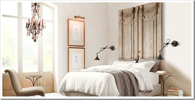 Restoration Hardware door Headboard