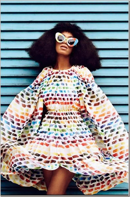 colorful with Solange Knowles