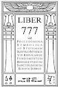 Liber 777 Vel Prolegômenos Symbolica anúncio Systemam Sceptico Mysticae