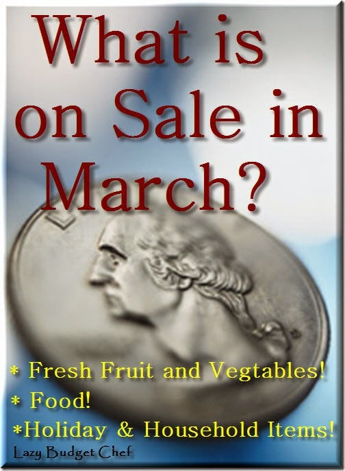 What is on sale in March