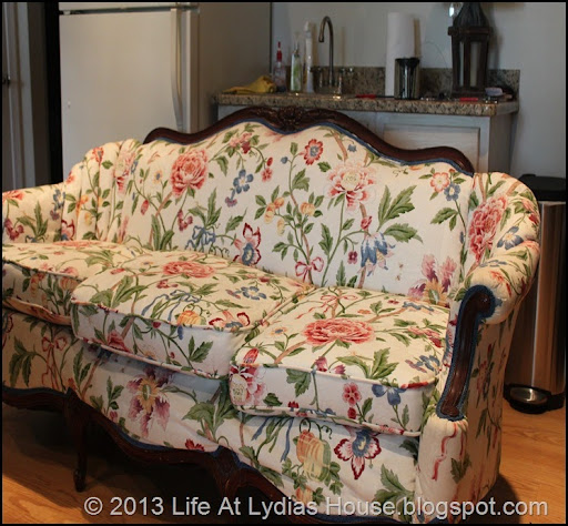 Floral Sofa Before 2 Ideas