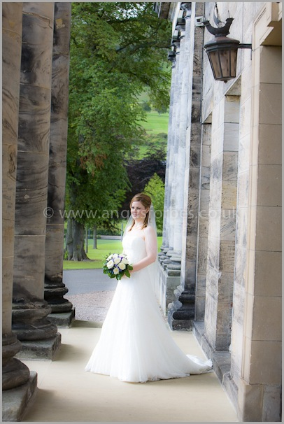 bride photography in scotland at dollar academy