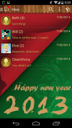 Handcent 6 Skin New Year2013