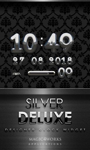 Silver Deluxe Digital Clock