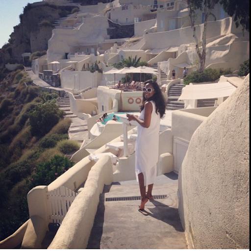 PHOTOS: Sylvia Nduka And Ene Maya's Vacation in Santorini Greece 19