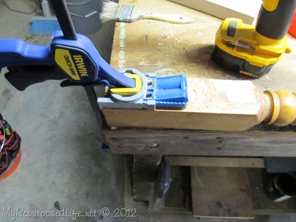 pocket holes mend headboard post