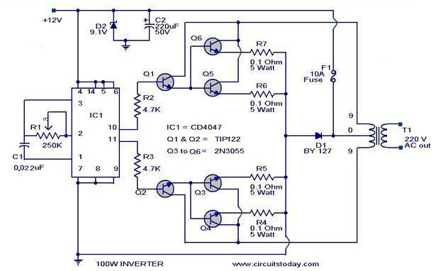 Hobi Elektronika  Kumpulan Rangkaian Inverter  Perubah
