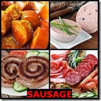 SAUSAGE- 4 Pics 1 Word Answers 3 Letters