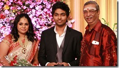 Manikka Vinayagam at GV Prakash Kumar & Saindhavi Wedding Reception Photos