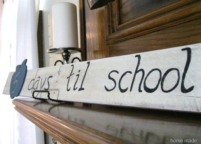 pallet school sign