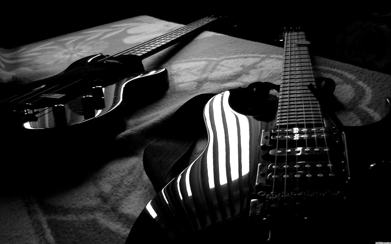 Black Guitar Hd Wallpapers