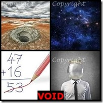 VOID- 4 Pics 1 Word Answers 3 Letters