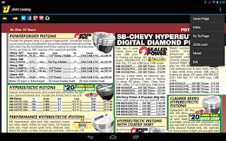 Screenshot of JEGS Catalog