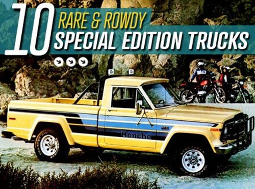 alizul 10 rare and rowdy special edition trucks. Black Bedroom Furniture Sets. Home Design Ideas